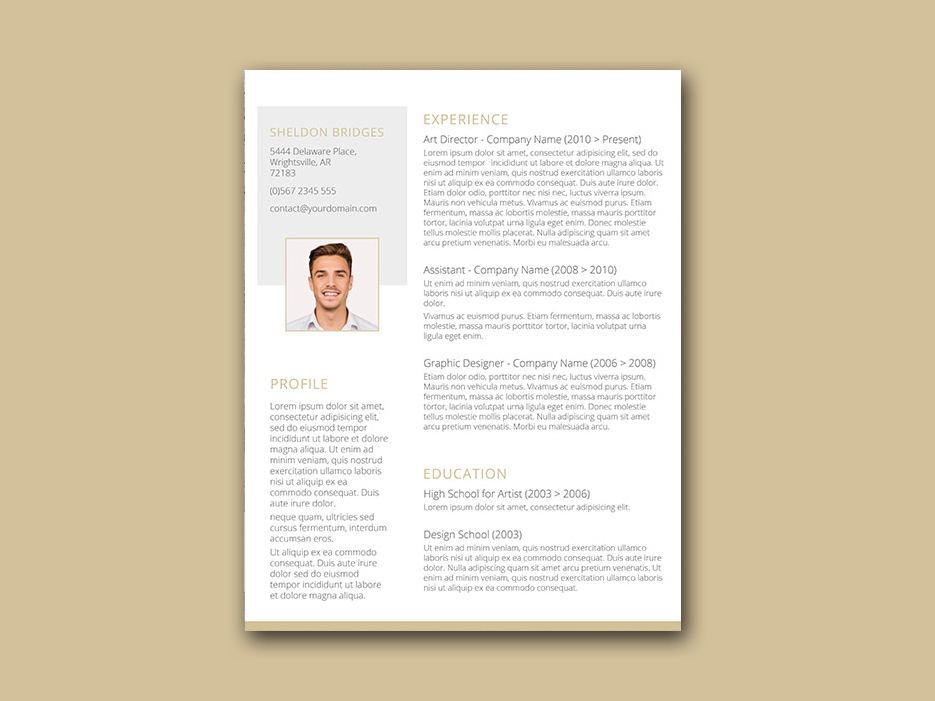 Free Simple Resume Template with Classy Style Design