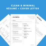 Simple Sketch Resume and Cover Letter