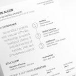 Simple Typographic Resume