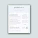 Simplified Word Resume