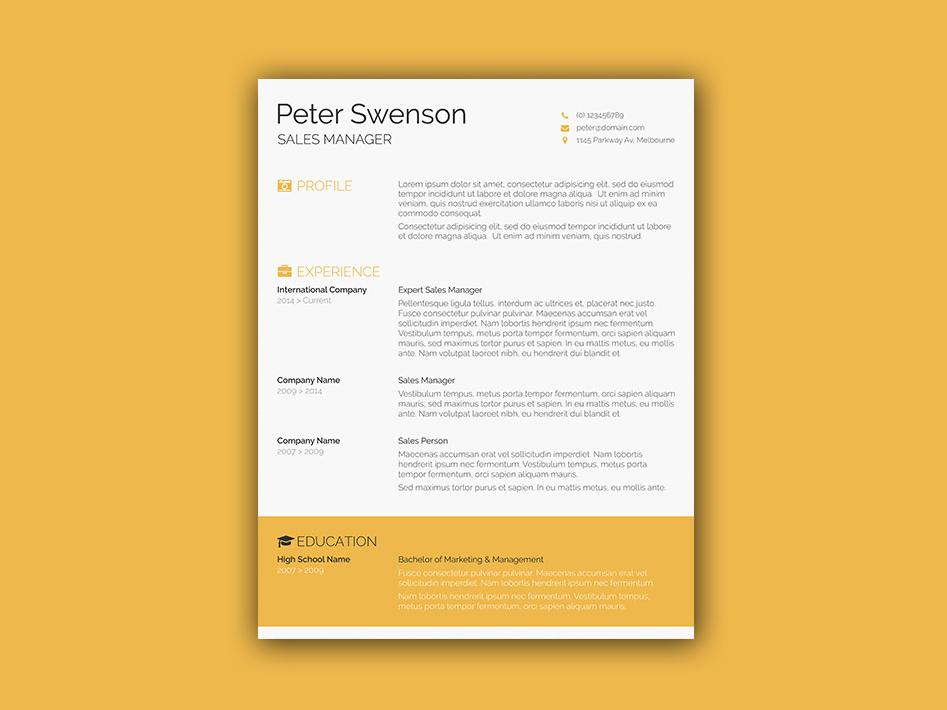 Swenson Resume Template