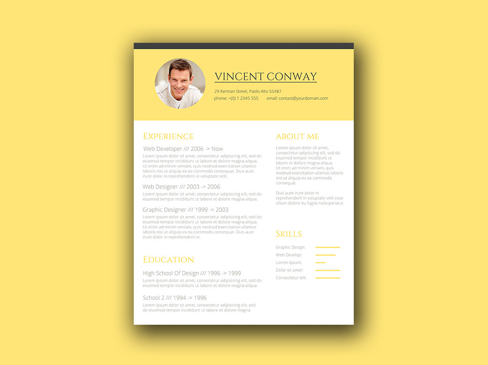 Free Trendy CV Template for any Job Opportunity