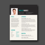 Turquoise Resume Template