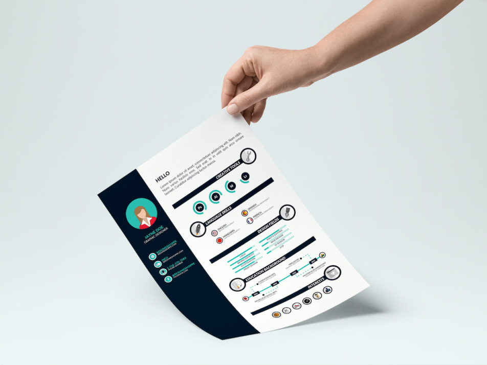 free vector infographic resume template that you can use to presentyour creativity to hiring managers and land your dream job the free resume comes in ai