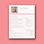 Woman Resume Template