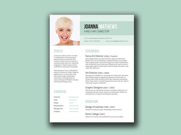 Free Trendy Resume Template with Stylish Design