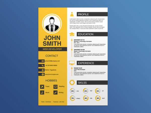 Smashresume Free Resume Template For Job Seeker