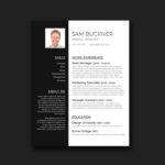 Elegant Black and White Resume