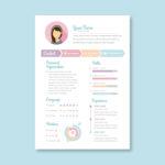 Feminine Vector Resume