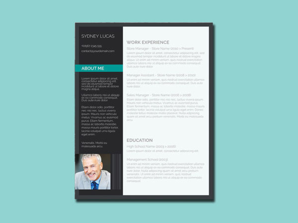 Free Smart Design Resume Template in Word Format