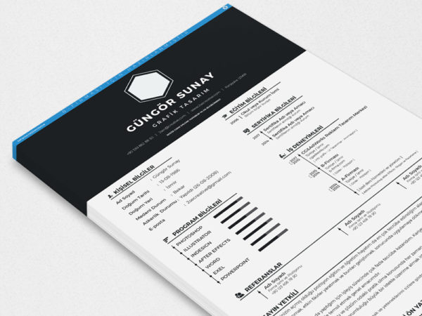 Free PSD Resume Template with Elegant Style Design