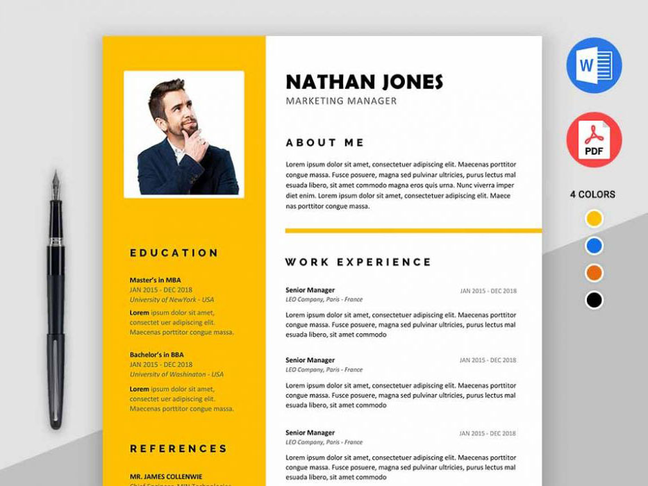 Assure Resume Free Modern Resume Template For Ms Word