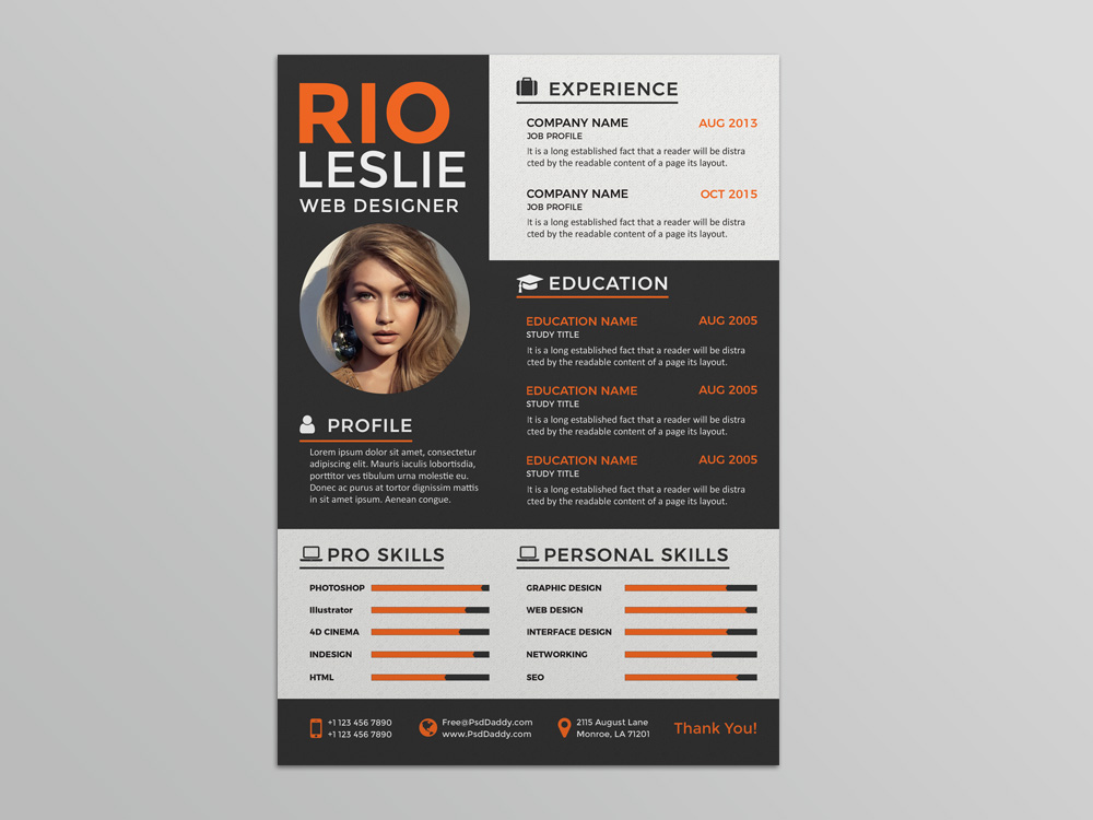 modern resume format 2015
