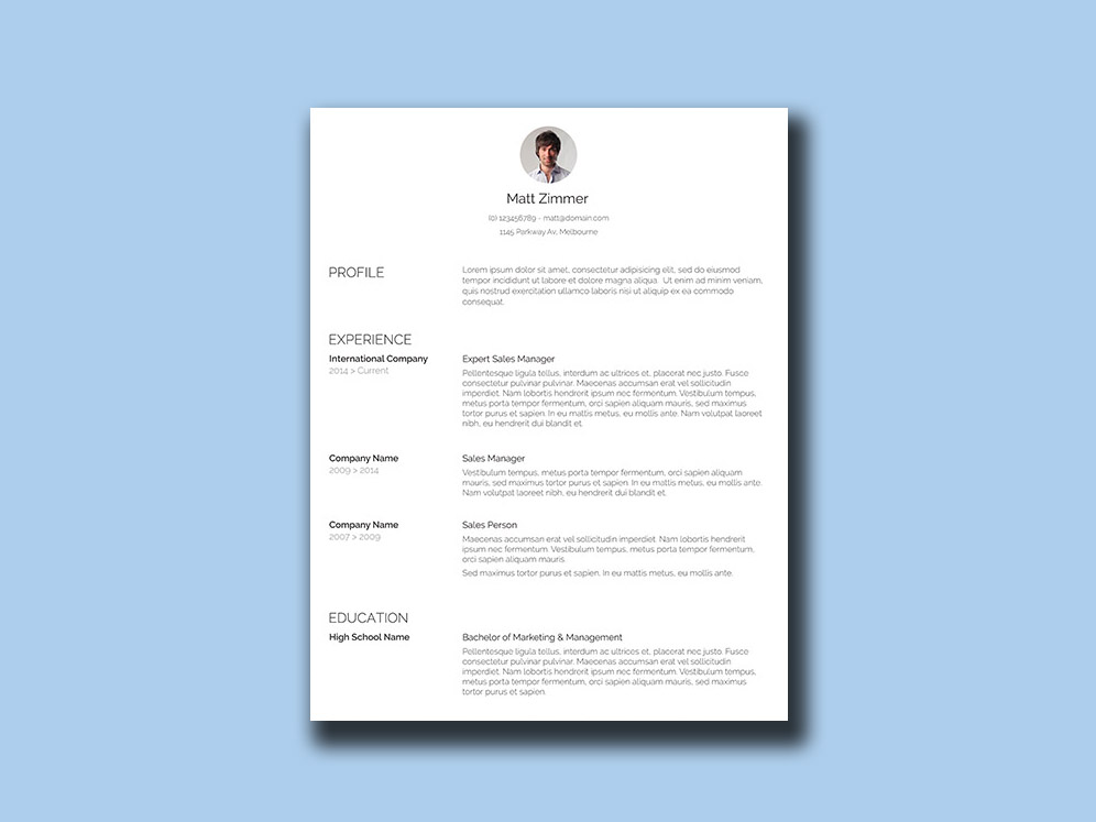 Spick And Span Resume Free Clean Resume Template With Simple Design
