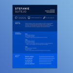 Blue Infographic Resume