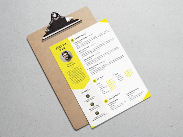 Free Clean Resume Template for Job Seeker