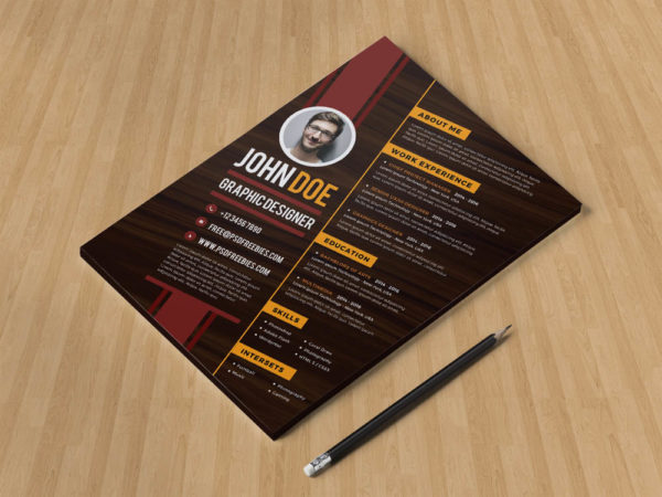Free Diagonal Resume Template with Creative Design
