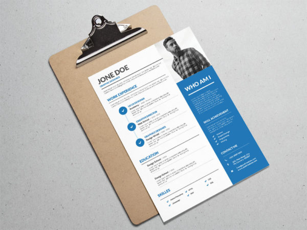 Free Creative Resume Template for Designer