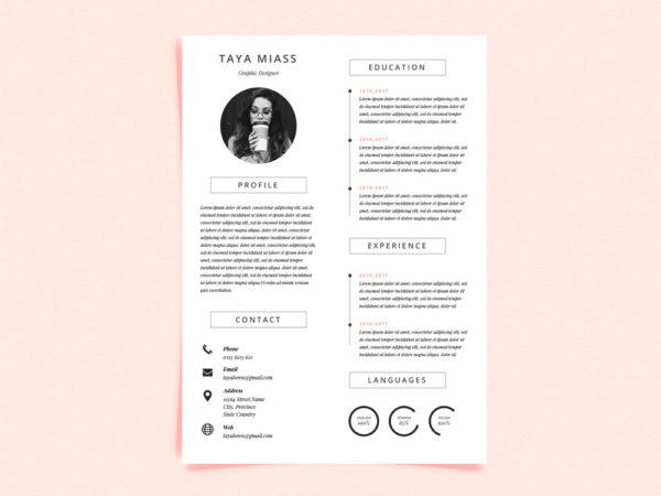 Free Curriculum Vitae Template with Minimalist Design