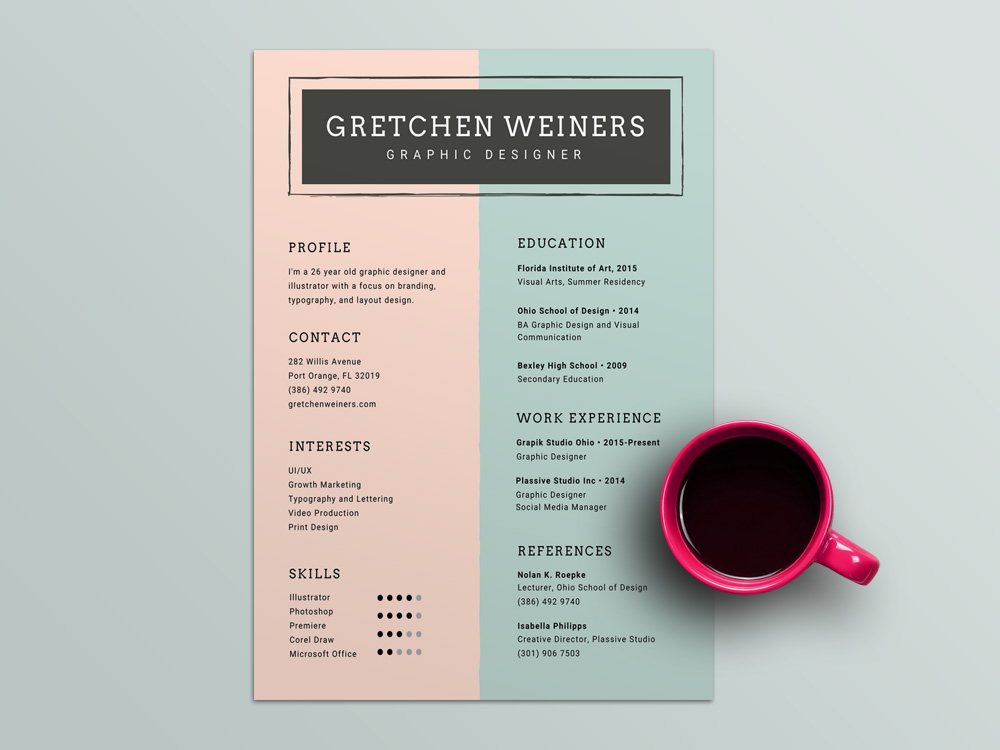 Weiners Resume - Free Personal Corporate Resume Template