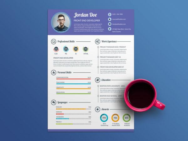 Free Super Clean Resume Template For Job Seeker