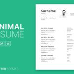 Minimal Curriculum Vitae Set