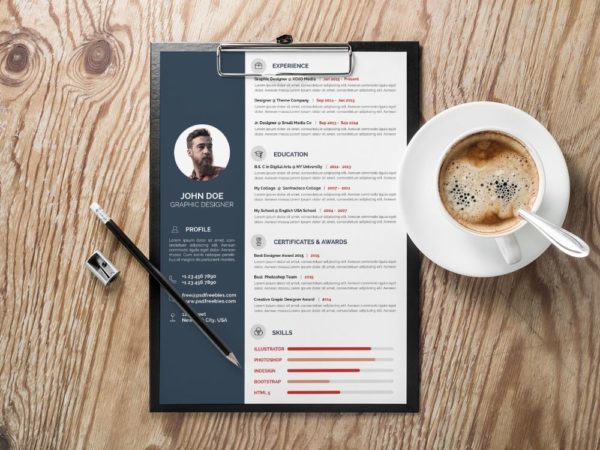 Free Minimal CV Template with Professional Look