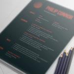 Dark Gradient Resume