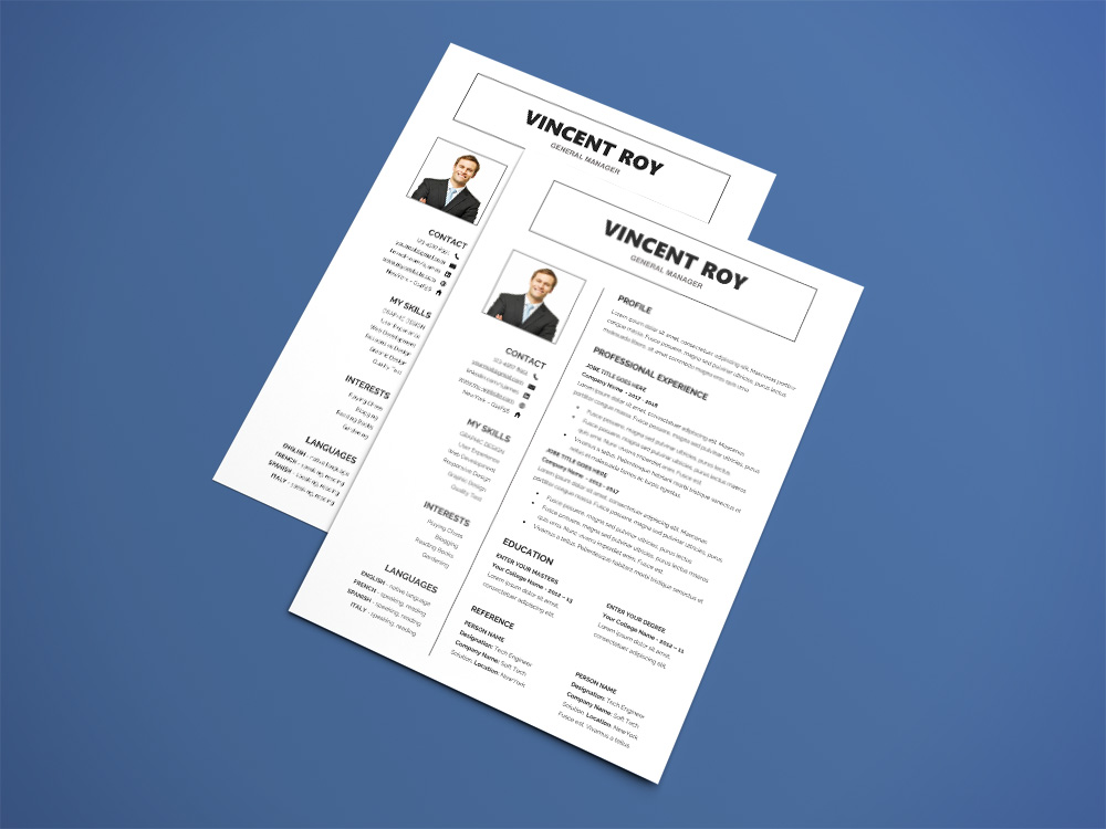 here is free manager resume template with formal design layout for your next job opportunity this is the perfect resume cv template for find a job