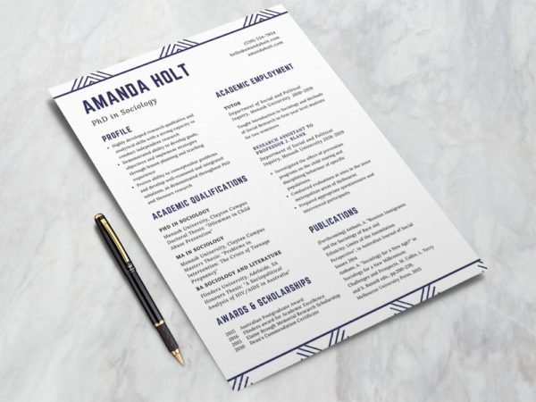 Free Resume Template for PhD Students