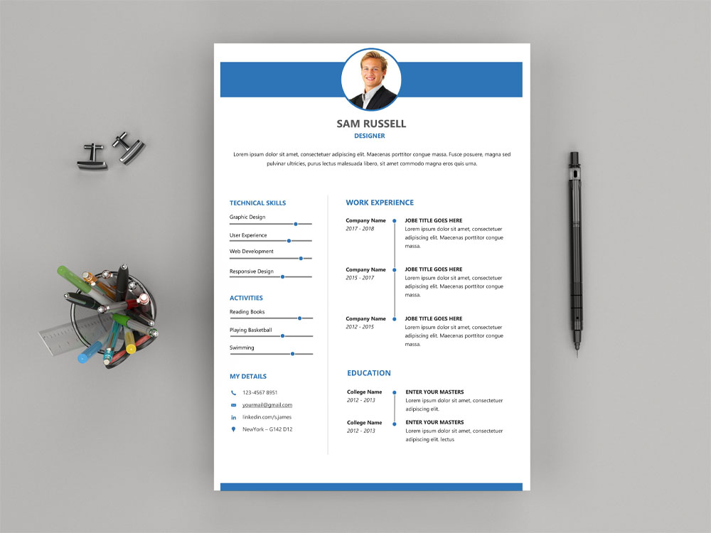 Russell resume free modern word resume template with clean design here is free modern word resume template with clean design layout for your next job opportunity it designed for any type of profession as for creative maxwellsz