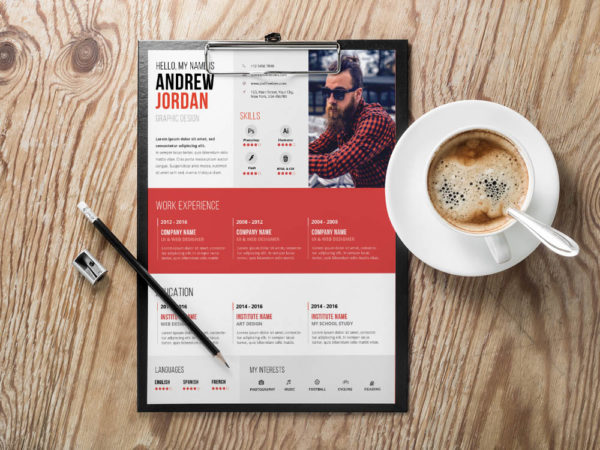 Free Swiss Typographic Resume Template with Stylish Design