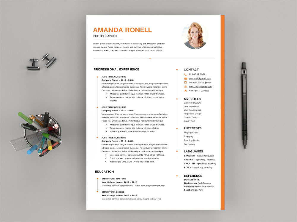 free timeline word resume template with elegant and clean