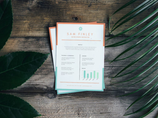Free Resume Template for Water Sports Instructor