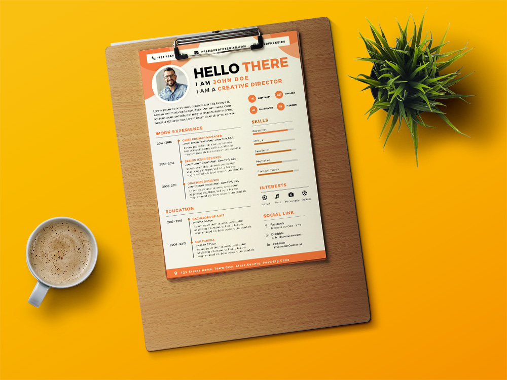 designer cv free designer resume template with attractive design