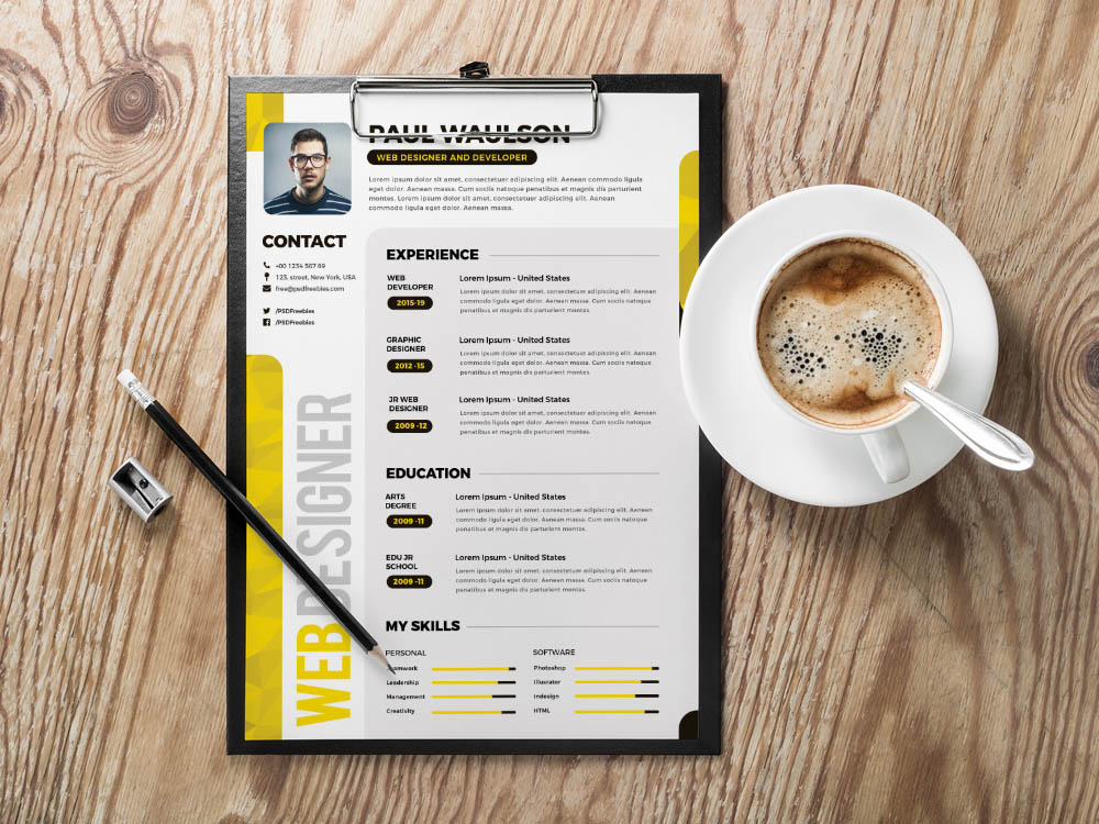 Free Creative Multicolor Resume Template for Any Job Opportunity