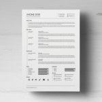Minimalist Timeline CV/Resume