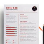 Minimal Red Resume