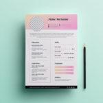 Modern Pink Resume